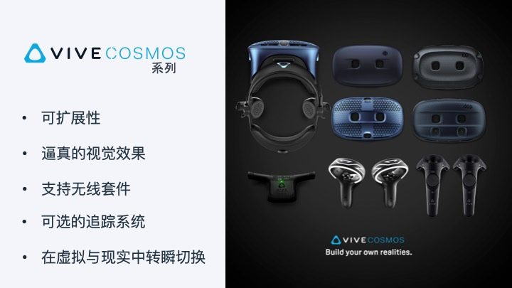 HTC VIVE揭晓 VIVE COSMOS全新系列…